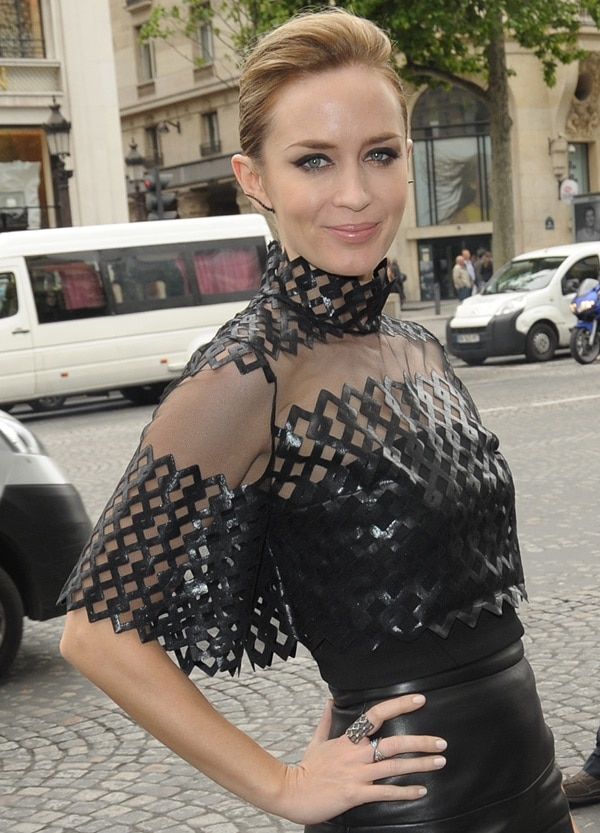 """Emily Blunt at the Paris premiere of """"Edge of Tomorrow"""""""