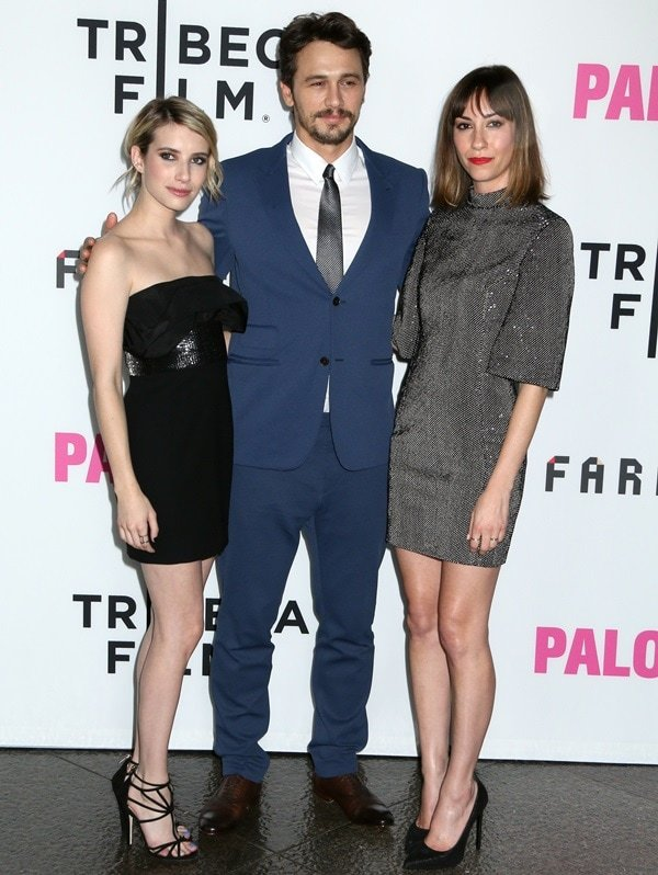 Emma Roberts, James Franco, and Gia Coppola