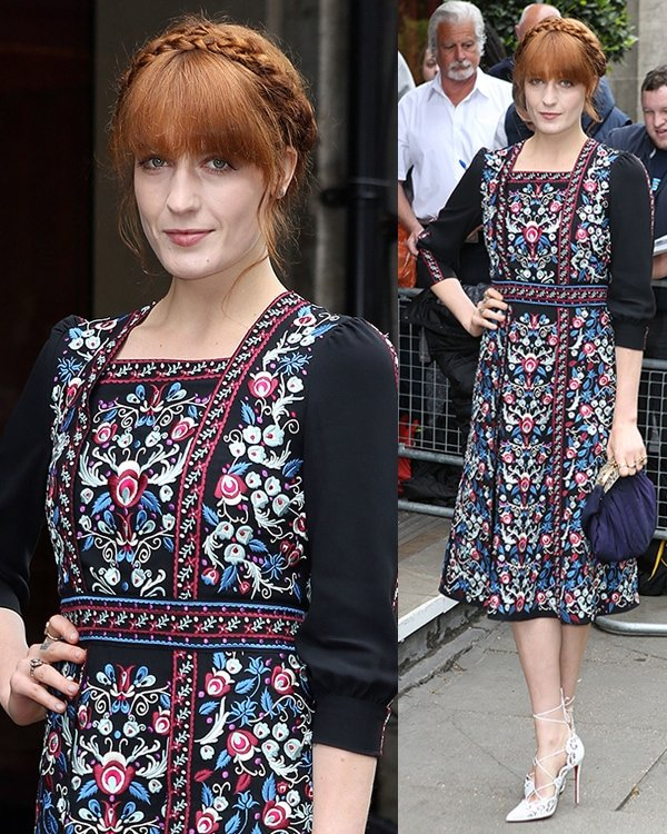 Florence Welch at the 2014 Ivor Novello Awards held at the Grosvenor House Hotel in London, England, on May 22, 2014