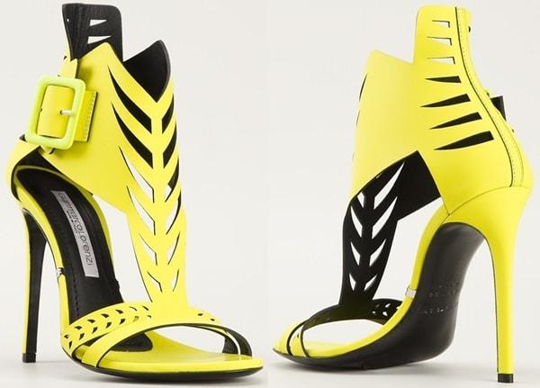 Gianmarco Lorenzi perforated high heel sandals