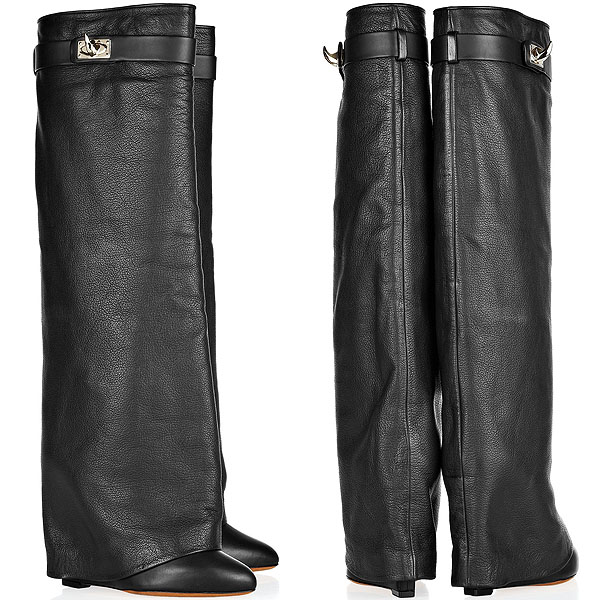 Givenchy Shark-Lock Fold-Over Wedge Boots