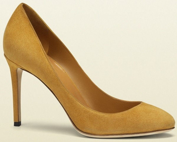 Gucci Suede Yellow Pumps