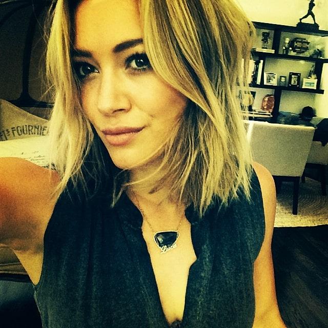 Hilary Duff's Instagram selfie of her new shorter hairdo