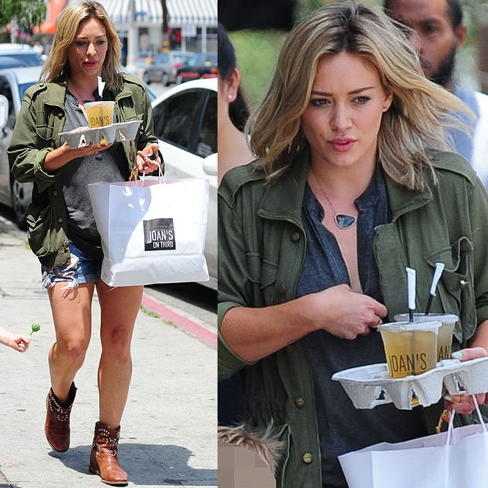 Hilary Duff leaving after having lunch at Joan's on Third restaurant in Los Angeles, California, on May 29, 2014