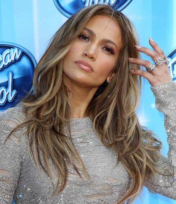 Jennifer Lopez in KaufmanFranco at the American Idol Season 13 finale at Nokia Theatre L.A. Live in Los Angeles on May 21, 2014