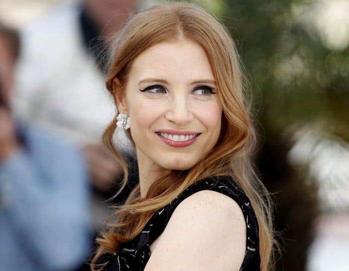 Jessica Chastain at the photo call for 'The Disappearance of Eleanor Rigby'