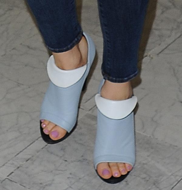 "Jessie J wearing Balenciaga ""Revers"" booties"