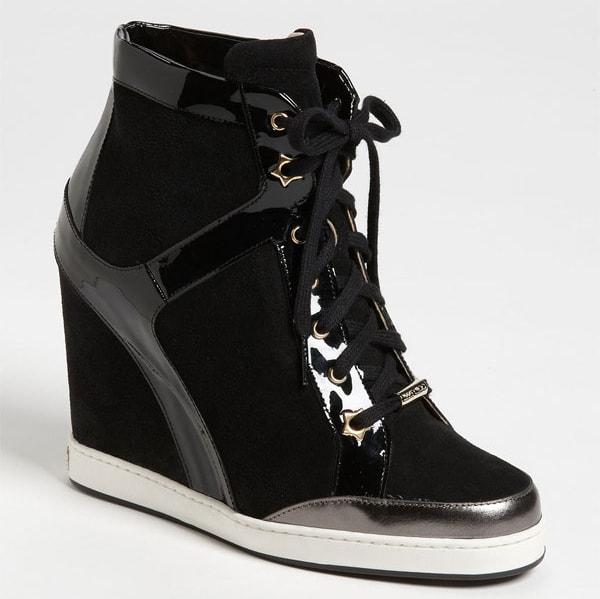 Jimmy Choo Panama Wedge Sneakers Black
