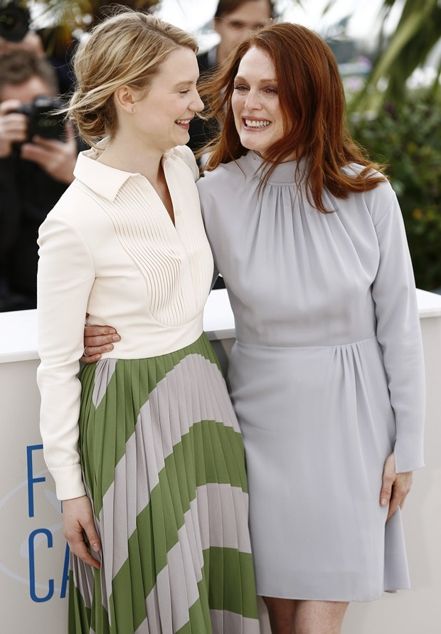 Julianne Mooreattended a photo call for her upcoming film,Maps to the Stars, during the 2014 Cannes Film Festival
