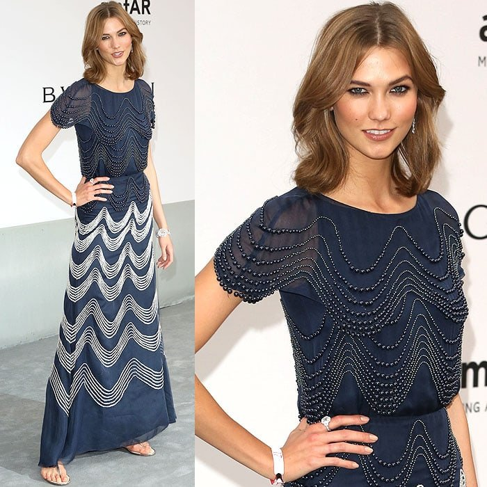 Karlie Kloss at the amfAR 21st Annual Cinema Against AIDS Gala held during the 67th Cannes Film Festival