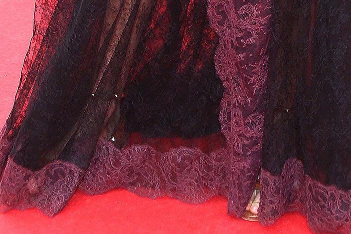 Karlie Kloss' Valentino studded flat sandals for the 2014 Cannes Film Festival