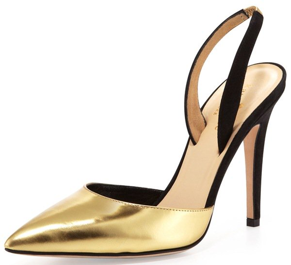 Kate Spade New York Levana Metallic Slingback Pumps