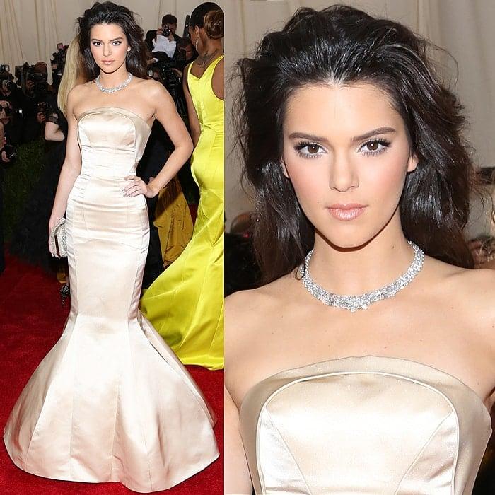 Kendall Jenner messy hair 2014 Met Gala