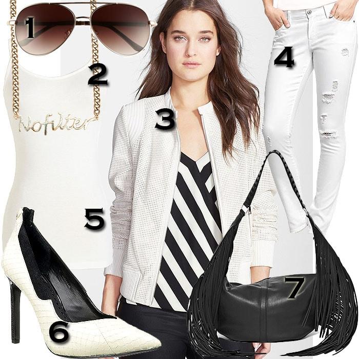 Khloe Kardashian's all white outfit