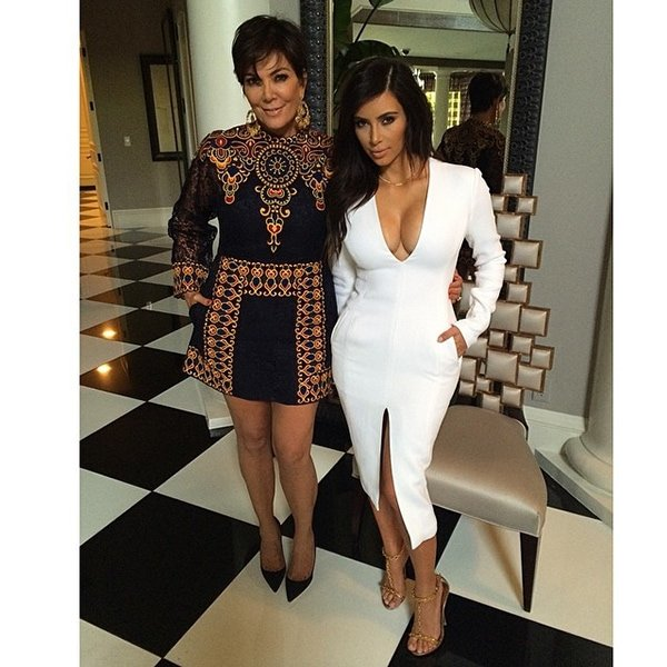 Kim Kardashian and her beautiful mom Kris Jenner