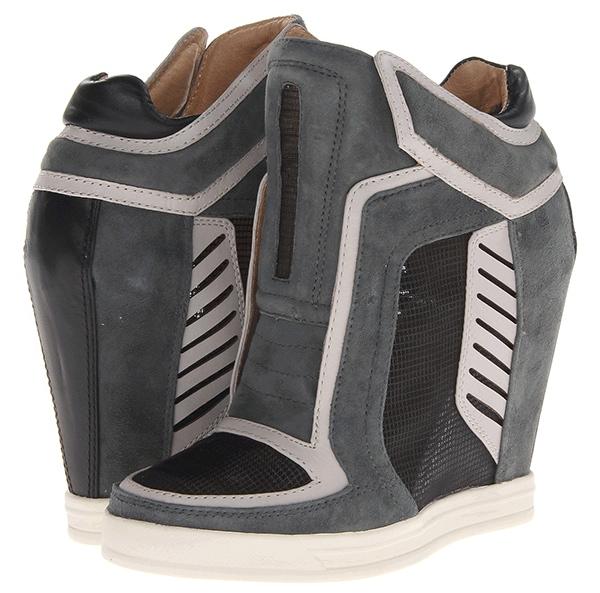LAMB Freeda Wedge Sneakers Light Gray Slate