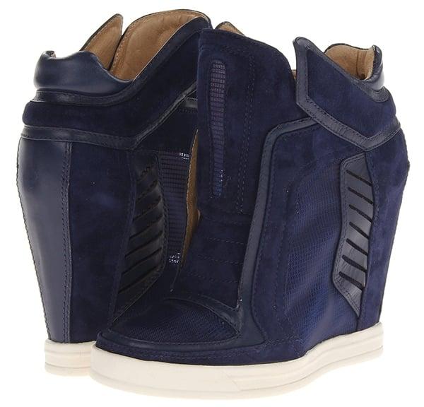 LAMB Freeda Wedge Sneakers Navy