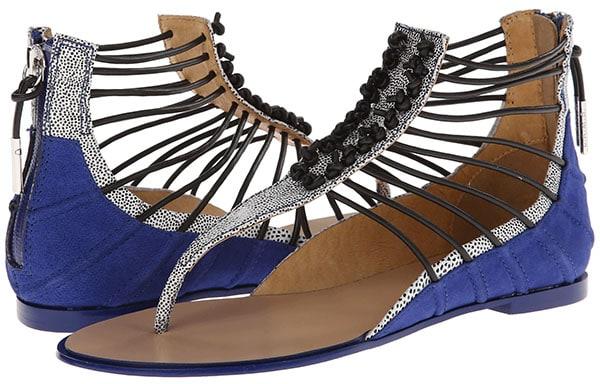 LAMB Reagon Sandals Indigo Blue and White