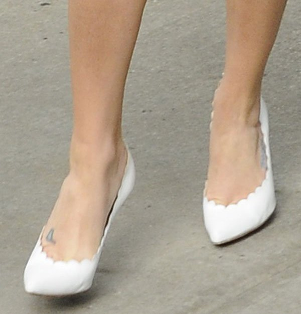 Lea Michele leaving for her book signing