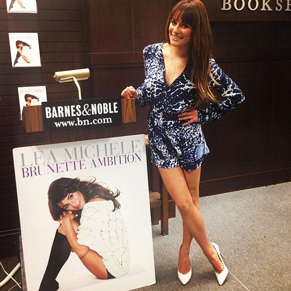 Lea Michele Brunette Ambition at Barnes & Noble1