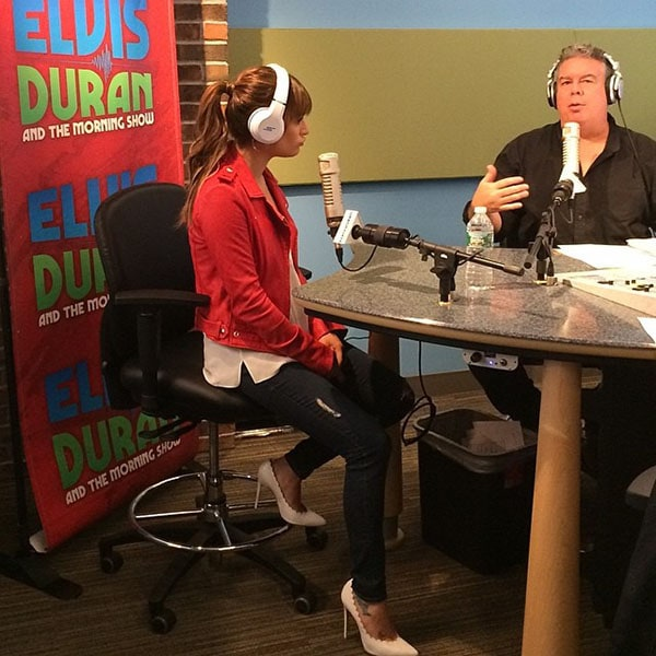 Lea Michele Elvis Duran and the Z100 Morning Show