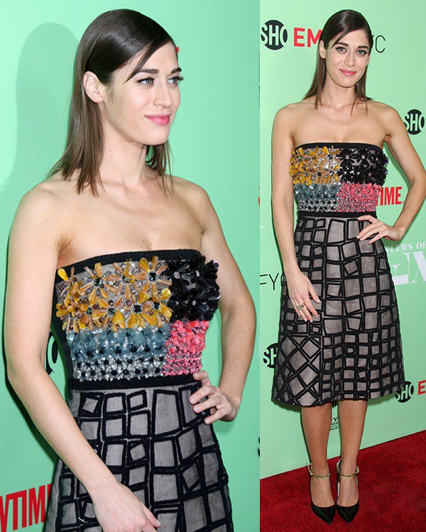 Lizzy Caplan wearing a Roksanda Ilincic Spring 2014 dress
