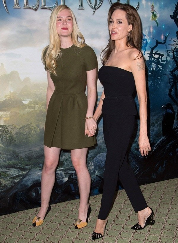 Maleficent Photocall Angelina and Elle