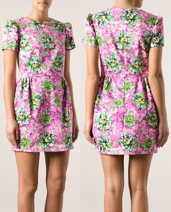 Mary Katrantzou Floral-Print Shift Dress