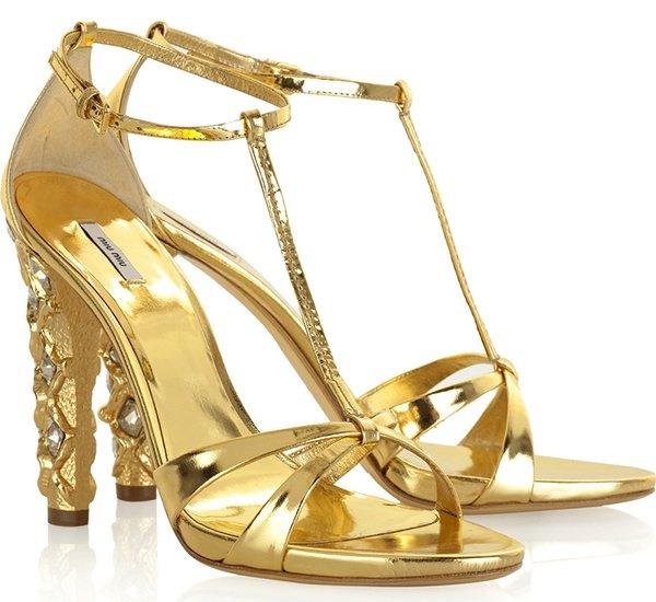 Miu Miu Swarovski Sandals