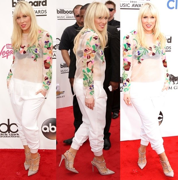 Natasha Bedingfield on the red carpet at the 2014 Billboard Awards held at the MGM Grand Hotel & Casino in Las Vegas on May 18, 2014
