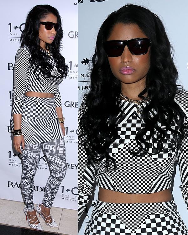 Nicki Minaj kicking off Memorial Day weekend at 1OAK Nightclub inside The Mirage Resort and Casino in Las Vegas on May 23, 2014