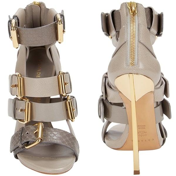 Casadei for Prabal Gurung Buckled-Strap Blade Sandals