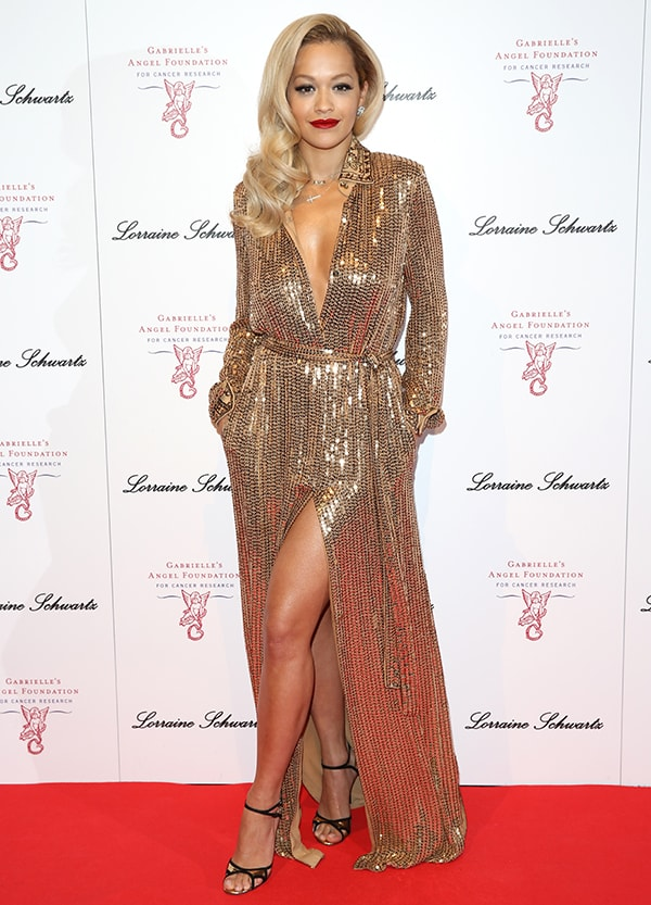 Rita Ora at the 3rd Annual Gabrielle's Gala fundraiser held at Old Billingsgate in London, England, on May 7, 2014