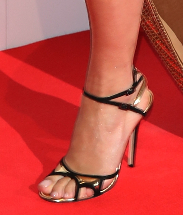 Rita Ora wearing Jimmy Choo sandals