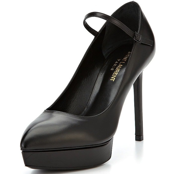Saint Laurent Janis Platform Mary-Jane Pumps