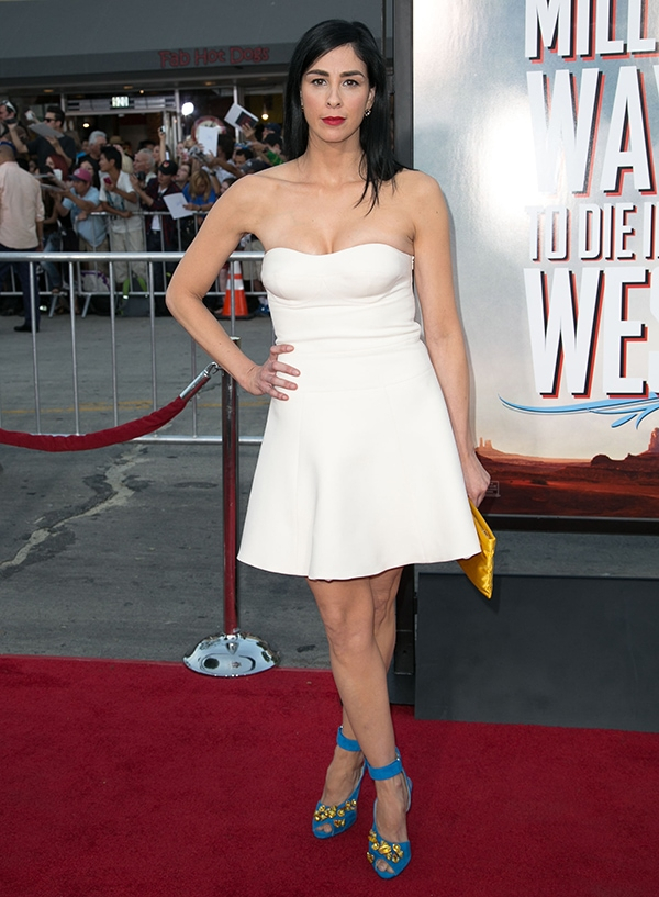 Sarah Silverman at the world premiere of 'A Million Ways to Die in the West' at Regency Village Theatre in Westwood, California, on May 15, 2014