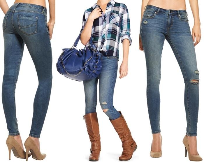 Signature Skinny Distressed Jeans