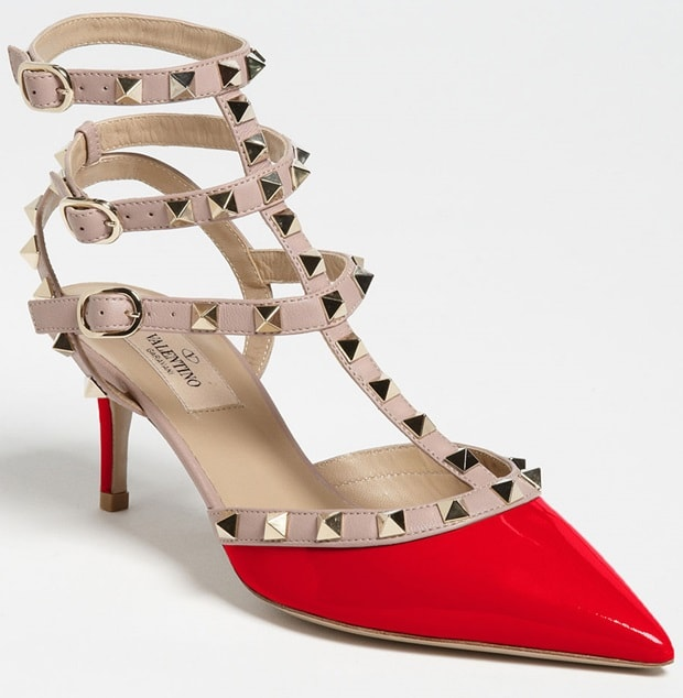 Valentino Red Rockstud Pump