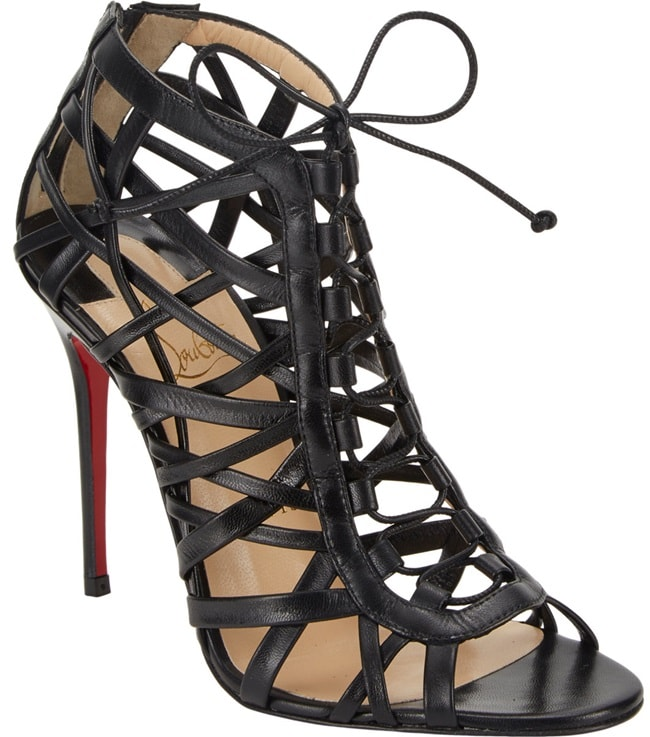 christian louboutin laurence lace up sandals