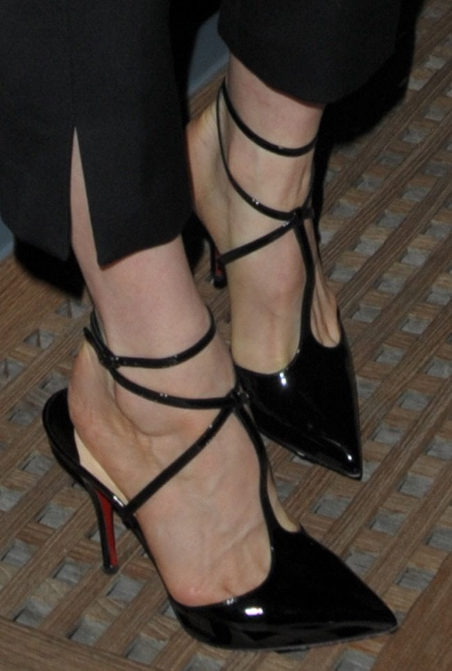 Dita Von Teese wearing T-Slick heels by Christian Louboutin