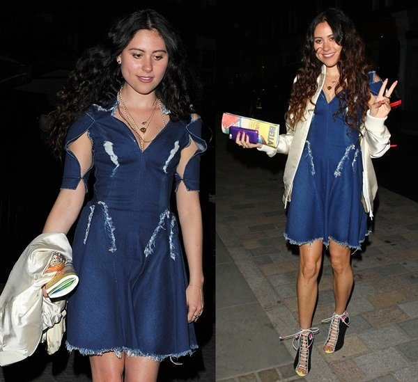 Eliza Doolittle at a party hosted by Prada at the Chiltern Firehouse Restaurant in London, England, on April 30, 2014