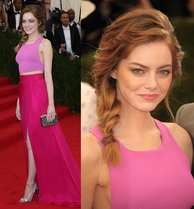 Emma Stone looking stunning per usual at the 2014 Met Gala held at the Metropolitan Museum of Art in New York City on May 5, 2014