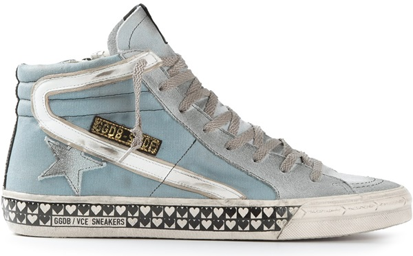 Golden Goose Blue Hi-Top Sneakers