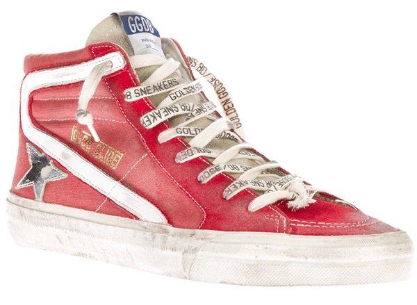 Golden Goose Red Hi-Top Sneakers