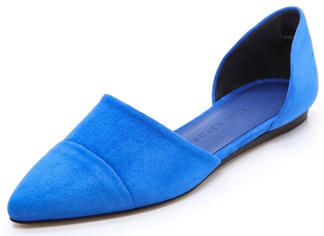 jenni kayne flats in suede blue