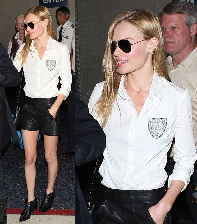 Kate Bosworth arriving at Los Angeles International Airport after a flight from New York on May 6, 2014