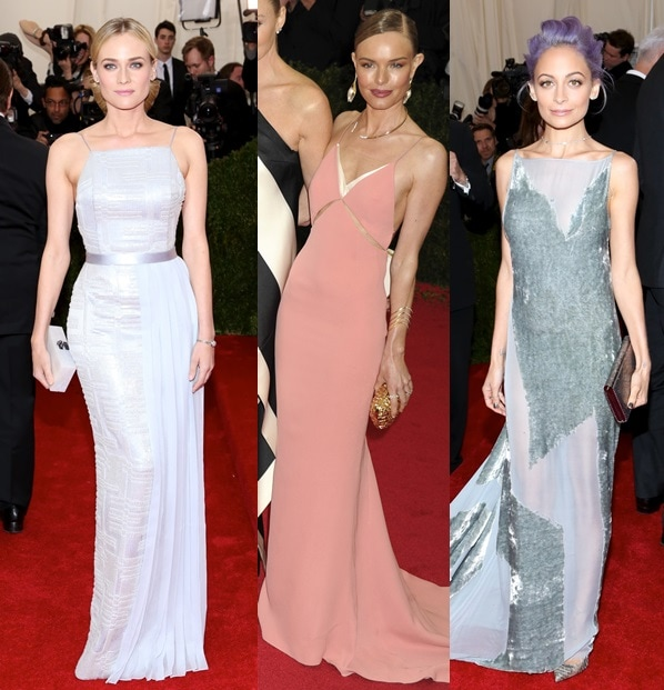 Nicole Richie, Kate Bosworth, and Diane Kruger opting for simplicity and elegance at the 2014 Met Gala held at the Metropolitan Museum of Art in New York City on May 5, 2014