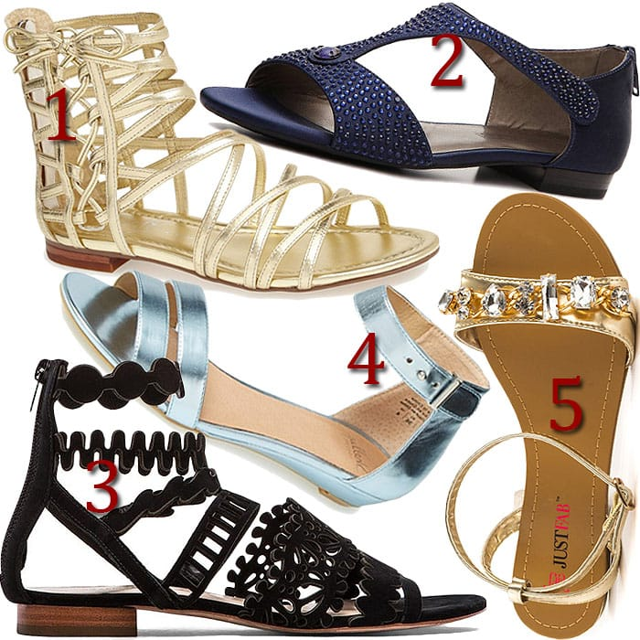 red carpet flat sandals