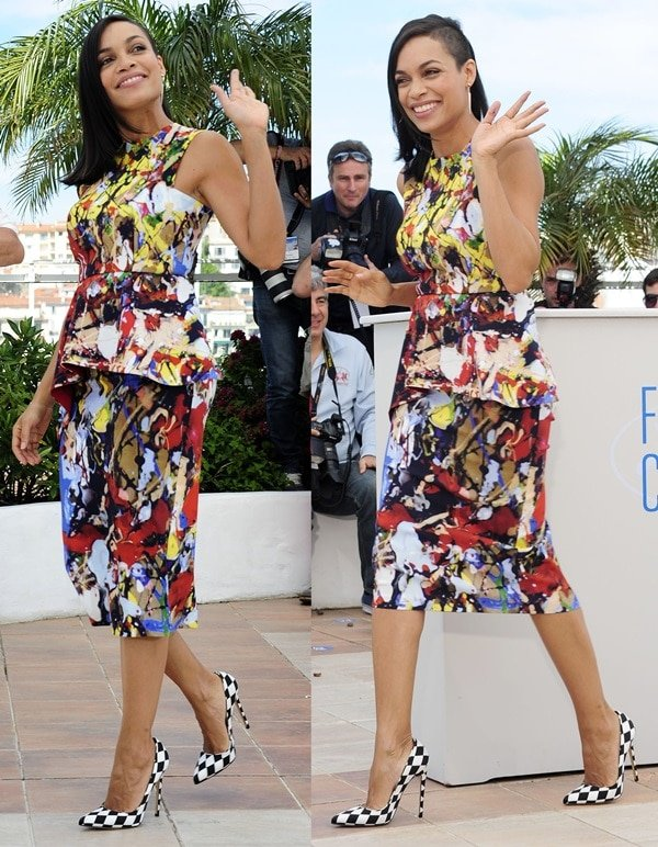 Rosario Dawson at a photo call for her new film, 'Captives', at the 67th Annual Cannes Film Festival