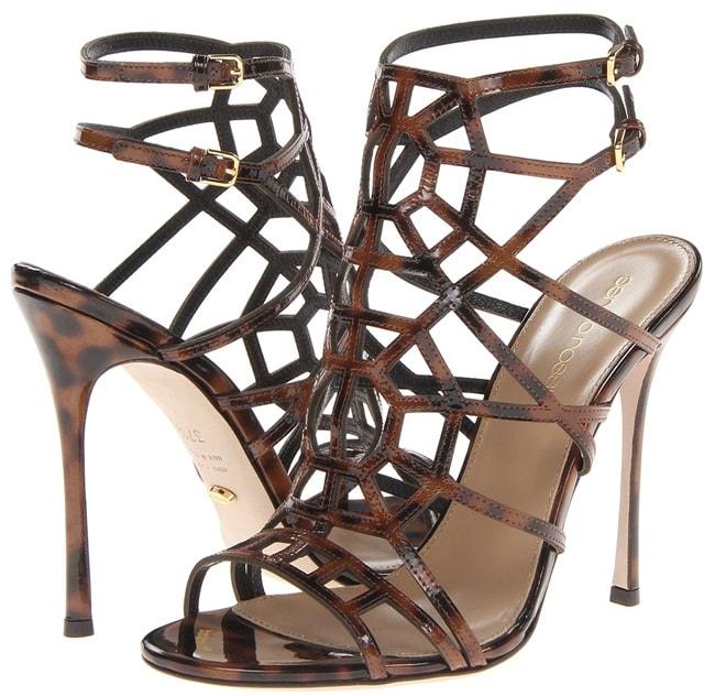 """Sergio Rossi """"Puzzle"""" Sandals in Ebano"""